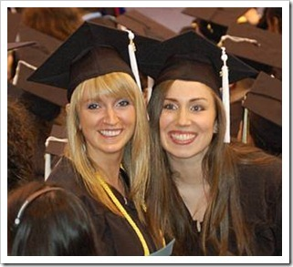 Smiling students after graduation